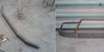Готовый бампер с кенгурином из обычной водопроводной трубы небольшого диаметра
