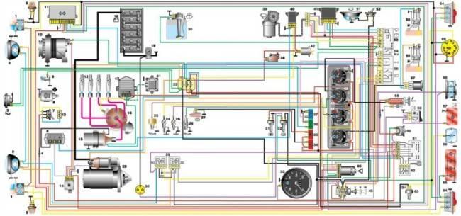 Схема электрооборудования автомобиля УАЗ-31514