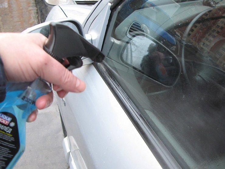 жидкость для стекол автомобиля в зимний период от льда
